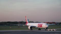 Brazilian TAM airline plane landing Stock Footage