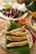 keropok lekor, is a malaysian food that is a favourite snack especially in th - stock photo