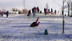 Fun in the Snow Stock Footage