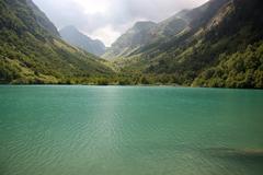 Pure mountain lake Stock Photos