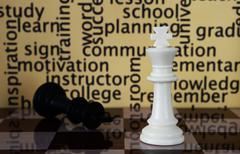 Chess and learn  concept Stock Illustration