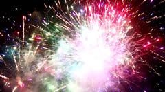 Firework display fourth of july Stock Footage