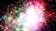 Stock Video Footage of firework display fourth of july