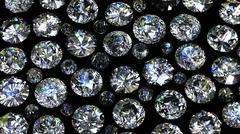 Set of round diamond on black background Stock Illustration