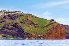 Stock Photo of canico, impressive cliff