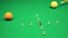 Italian billiard or Gorizian Stock Footage