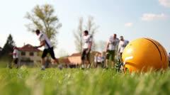 American Football Training - stock footage