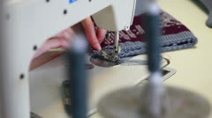 View of working sewing machine, close-up Stock Footage