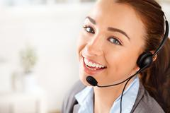 Customer service agent in call centre Stock Photos