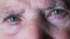 Old woman with blue eyes - stock footage