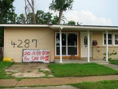 Post-Katrina New Orleans House 2007 - stock photo