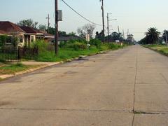 Post-Katrina New Orleans Empty Neighborhood 2007 - stock photo