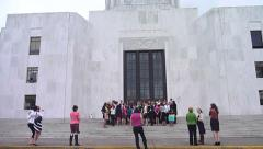 Group Photo at State Capital Stock Footage
