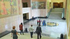 Oregon State Capital Building Lobby Stock Footage