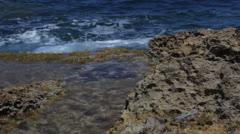 Maltese impressions - waves splashing Stock Footage