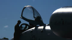 A-10 Aircrew at Cockpit Stock Footage