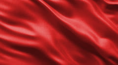 Seamless loop of red fabric Stock Footage