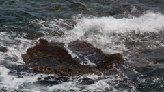 Maltese impressions - waves crashing Stock Footage
