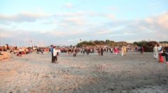 Midsummer night at the beach Stock Footage