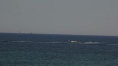 Maltese impressions - motorboat speeding Stock Footage