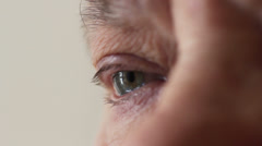 Old eye Stock Footage