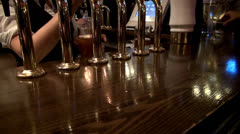 Stock Video Footage of English pub, draft beer