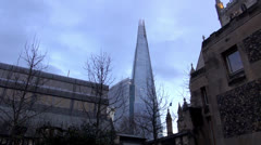 The Shard, Europeans biggest building - stock footage