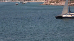 Maltese impressions - sailboat _3 Stock Footage