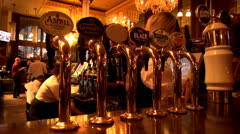 English pub, draft beer Stock Footage