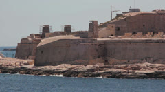 Maltese impressions - fort renovation Stock Footage