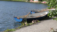Stock Video Footage of Ducks near the boat 2
