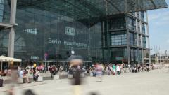 Berlin central station - stock footage
