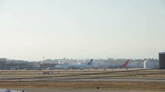 Airport Timelapse Stock Footage