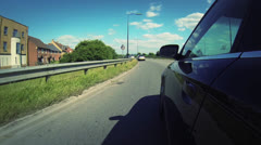 Car Driving Gopro POV Shot - SIde of Car HD - stock footage