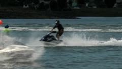 Jet ski competition 1 - stock footage