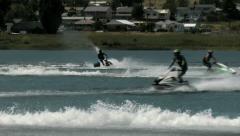 Jet skiers crossing Stock Footage