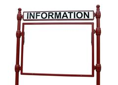 information billboard isolated on white background - stock photo