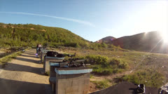 Outdoor range morning Stock Footage
