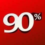 90% Sign Stock Illustration