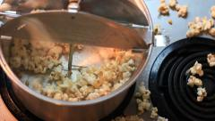 Stove top Popcorn Stock Footage
