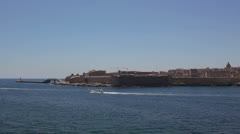 Maltese impressions - Valletta Lighthouse Stock Footage