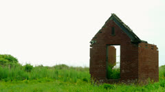 Brick House Ruins Stock Footage