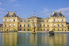 Stock Photo of french senate and the jardin du luxembourg, paris, france
