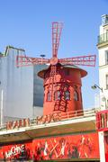 The Moulin Rouge in Paris Stock Photos