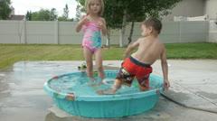 Kiddie Pool 11 Stock Footage
