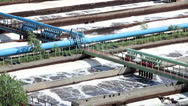 Stock Video Footage of The technological process of aeration of waste water