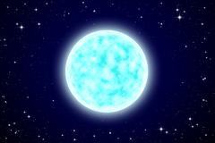 full moon in night sky - stock illustration