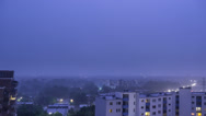 Hamburg Thunderstorm Time Lapse Stock Footage