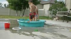 Kiddie Pool 7 Stock Footage