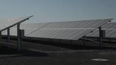 Solar Panels Angled CU - stock footage
